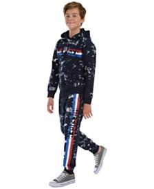 Tommy Hilfiger Big Boys Edwin Splatter-Print Logo Hoodie & Courtney Splatter-Print Fleece Sweatpants