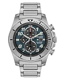 Eco-Drive Men's Chronograph Promaster Tough Stainless Steel Bracelet Watch 44mm