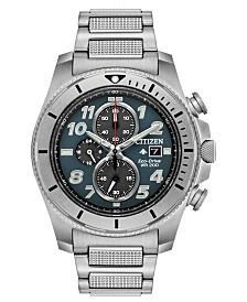 Citizen Eco-Drive Men's Chronograph Promaster Tough Stainless Steel Bracelet Watch 44mm
