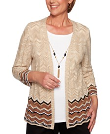 Alfred Dunner Street Smart Layered-Look Necklace Top