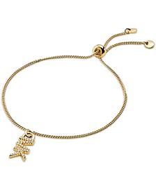 Crystal Logo Charm Slider Bracelet