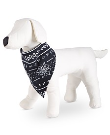 Matching Family Pajamas Ready Set Snow Pet Bandana, Created For Macy's