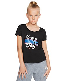 Nike Big Girls Graphic-Print Cotton T-Shirt