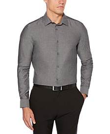 Men's Big & Tall Slim-Fit Stain-Resistant Water-Repellent Dobby Shirt