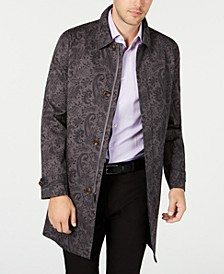 Men's Printed Paisley Top Coat, Created for Macy's