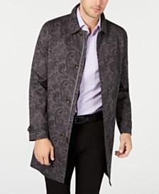 Tasso Elba Men's Printed Paisley Raincoat, Created for Macy's