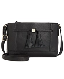 Pebble Leather Tassel Crossbody, Created for Macy's