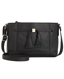Giani Bernini Pebble Leather Tassel Crossbody, Created for Macy's