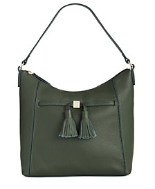 Pebble Leather Tassel Hobo, Created for Macy's