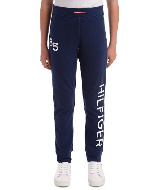 Tommy Hilfiger Big Girls Logo-Print Sweatpants