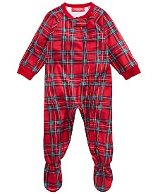 Matching Family Pajamas Baby Brinkley Plaid Footed Pajamas, Created For Macy's