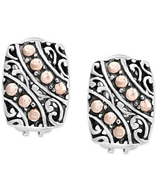 EFFY® Filigree Drop Earrings in Sterling Silver & 18k Rose Gold