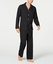 Club Room Men's Checked Flannel Pajama Set, Created for Macy's