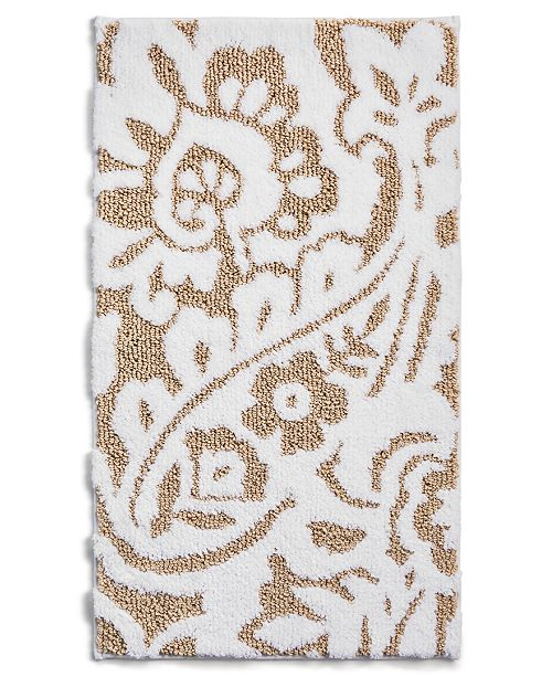 "Charter Club Paisley 19"" x 34"" Bath Rug, Created for Macy's"