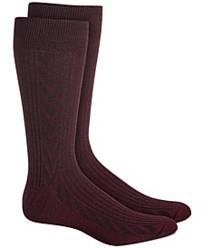 Men's Textured Chevron Socks
