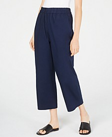 Organic Cotton Wide Leg Cropped Pants