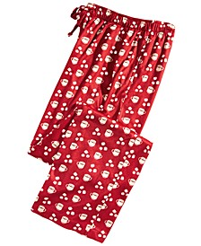 Men's Cocoa-Print Pajama Pants, Created for Macy's