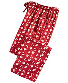 Club Room Men's Cocoa-Print Pajama Pants, Created for Macy's