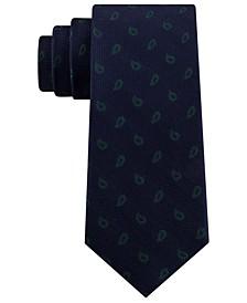 Men's Classic Textured Paisley Silk Tie
