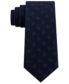 Tommy Hilfiger Men's Classic Textured Paisley Silk Tie