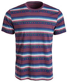 American Rag Men's Geo Striped T-Shirt, Created for Macy's