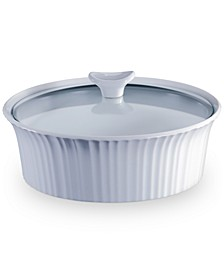French White 2.5-Qt. Round Casserole with Glass Lid
