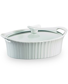 Corningware® French White 1.5-Qt. Oval Casserole with Glass Lid