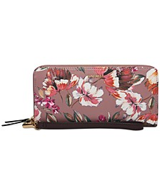 Floral Meadows Zip Around Wristlet