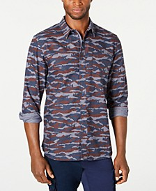Men's Camo Grindle Shirt, Created for Macy's