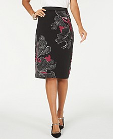 Printed Midi Pencil Skirt, Created for Macy's