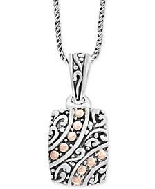 "EFFY® Filigree 18"" Pendant Necklace in Sterling Silver & 18k Rose Gold"