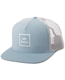 RVCA Men's All The Way Embroidered-Logo Trucker Hat