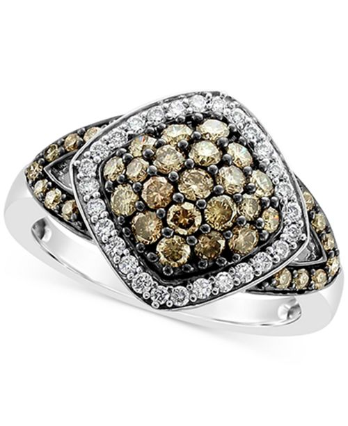 Le Vian Chocolate Diamond® (3/4 ct. t.w.) & Vanilla Diamond® (1/5 ct. t.w.) Ring in 14k White Gold