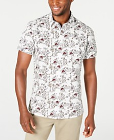 American Rag Men's Paisley Floral Shirt, Created for Macy's