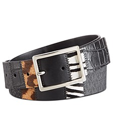 Patchwork Jeans Belt