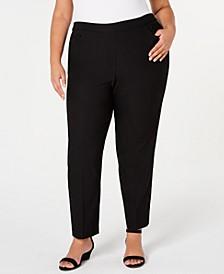 Plus Size Street Smart Pull-On Mid-Rise Pants
