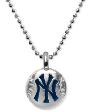 """New York Yankees 16"""" Pendant Necklace in Sterling Silver"""