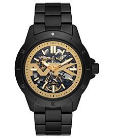 Men's Automatic Bayville Black Stainless Steel Bracelet Watch 47mm