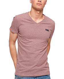 Superdry Men's Orange Label Vintage Embroidered Logo Graphic V-Neck T-Shirt