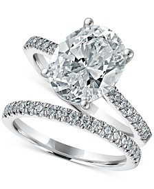 LIMITED EDITION Macy's Star Signature Diamond Oval Bridal Set (3-1/2 ct. t.w.) in 14k White Gold