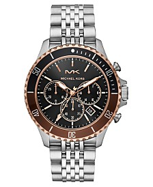 Michael Kors Men's Chronograph Bayville Stainless Steel Bracelet Watch 44mm