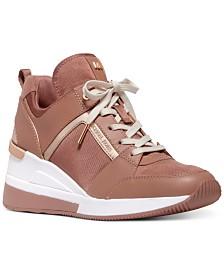 MICHAEL Michael Kors Georgie Trainer Wedge Sneakers