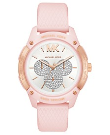 Michael Kors Women's Ryder Pink Silicone Strap Watch 44mm