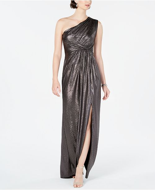 Adrianna Papell Metallic Jersey Dress