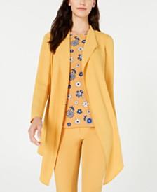 Anne Klein Open-Front Long-Sleeve Jacket