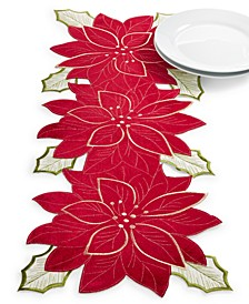 "Kori Holiday Cutwork 14"" x 36"" Centerpiece"