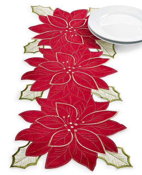 "Homewear CLOSEOUT! Kori Holiday Cutwork 14"" x 36"" Centerpiece"