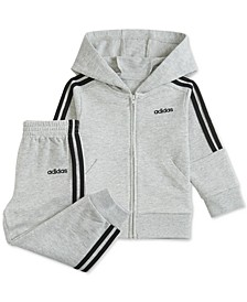 Baby Boys 2-Pc. Cotton French Terry Hoodie & Jogger Pants Set