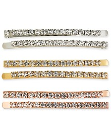 I.N.C. Tri-Tone 6-Pc. Set Crystal Bobby Pins, Created For Macy's