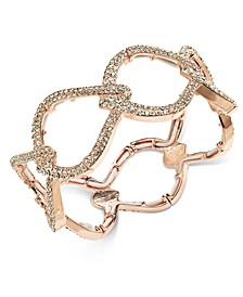 INC Rose Gold-Tone Pavé Interlocking Stretch Bracelet, Created For Macy's